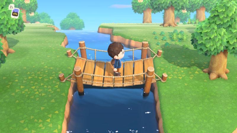 川にかかった吊橋
