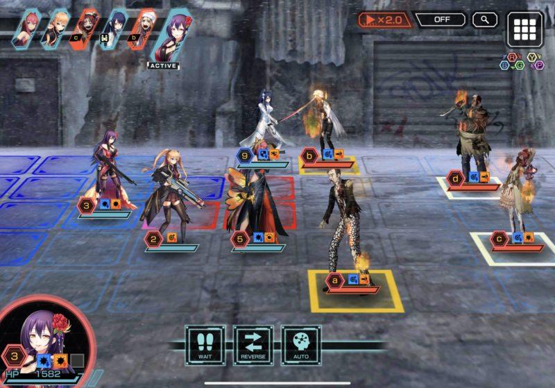 凍京NECROの戦闘画面
