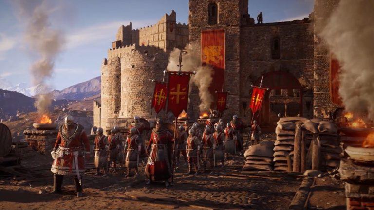 城門と兵士たち